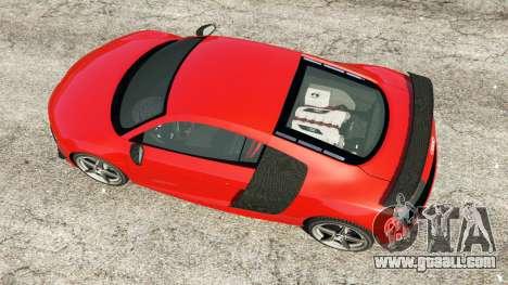 GTA 5 Audi R8 GT 2011 v0.5 [Beta] back view