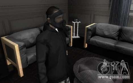 GTA5 Gasmask for GTA San Andreas second screenshot