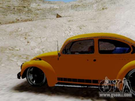 Volkswagen Beetle 1975 Jeans Edition Custom for GTA San Andreas interior