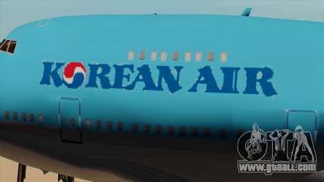 Boeing 747 Korean Air for GTA San Andreas back view