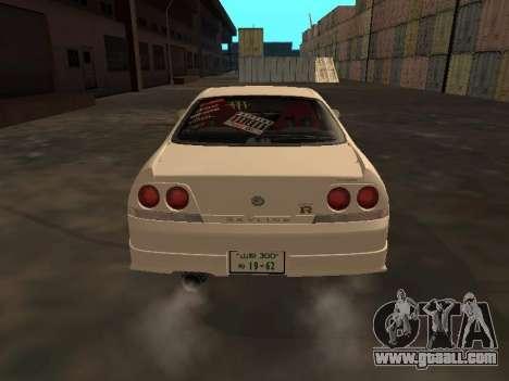 Nissan Skyline R33 Drift Monster Energy JDM for GTA San Andreas right view