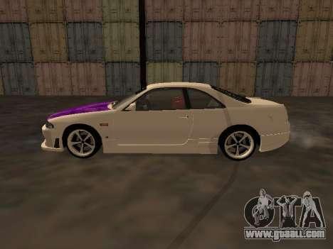 Nissan Skyline R33 Drift Monster Energy JDM for GTA San Andreas left view