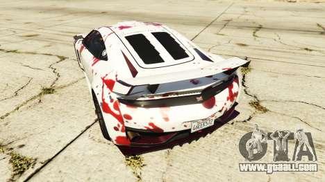 GTA 5 Dinka Jester (Racecar) Blood rear left side view