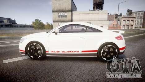 Audi TT RS 2010 Quattro for GTA 4 left view