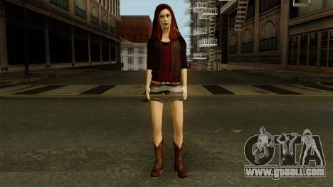 Amy Pond from Doctor Who for GTA San Andreas second screenshot