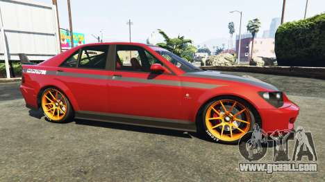 GTA 5 The HKS stickers on Sultan left side view