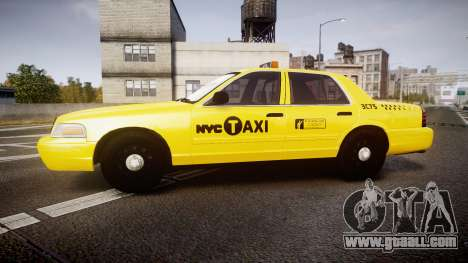 Ford Crown Victoria 2011 NYC Taxi for GTA 4 left view