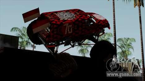 The Seventy Monster v2 for GTA San Andreas left view