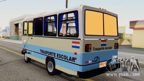 Mercedes-Benz LO-608D Paraguay School Bus for GTA San Andreas left view