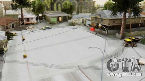 Winter Grove Street for GTA San Andreas