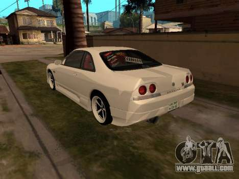 Nissan Skyline R33 Drift Monster Energy JDM for GTA San Andreas back left view