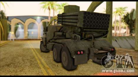 BM-21 Grad CoD MW for GTA San Andreas left view