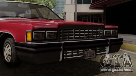 GTA 5 Albany Emperor IVF for GTA San Andreas back view