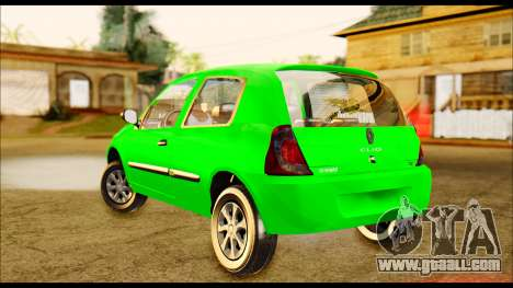 Renault Clio Mio for GTA San Andreas back left view