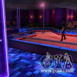 Retextured interior strip clubs for GTA San Andreas
