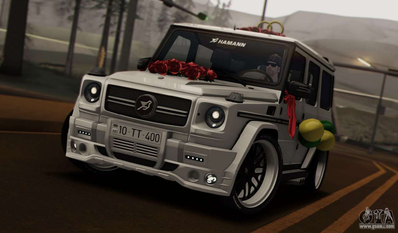 How To Rotate Tires >> Mercedes Benz G65 Hamann Tuning Wedding Version for GTA San Andreas