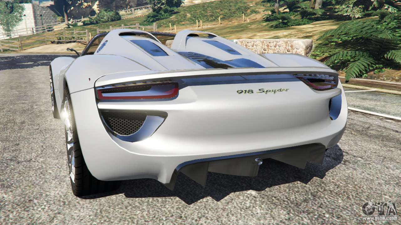 GTA 5 Porsche 918 Spyder Rear Left Side View