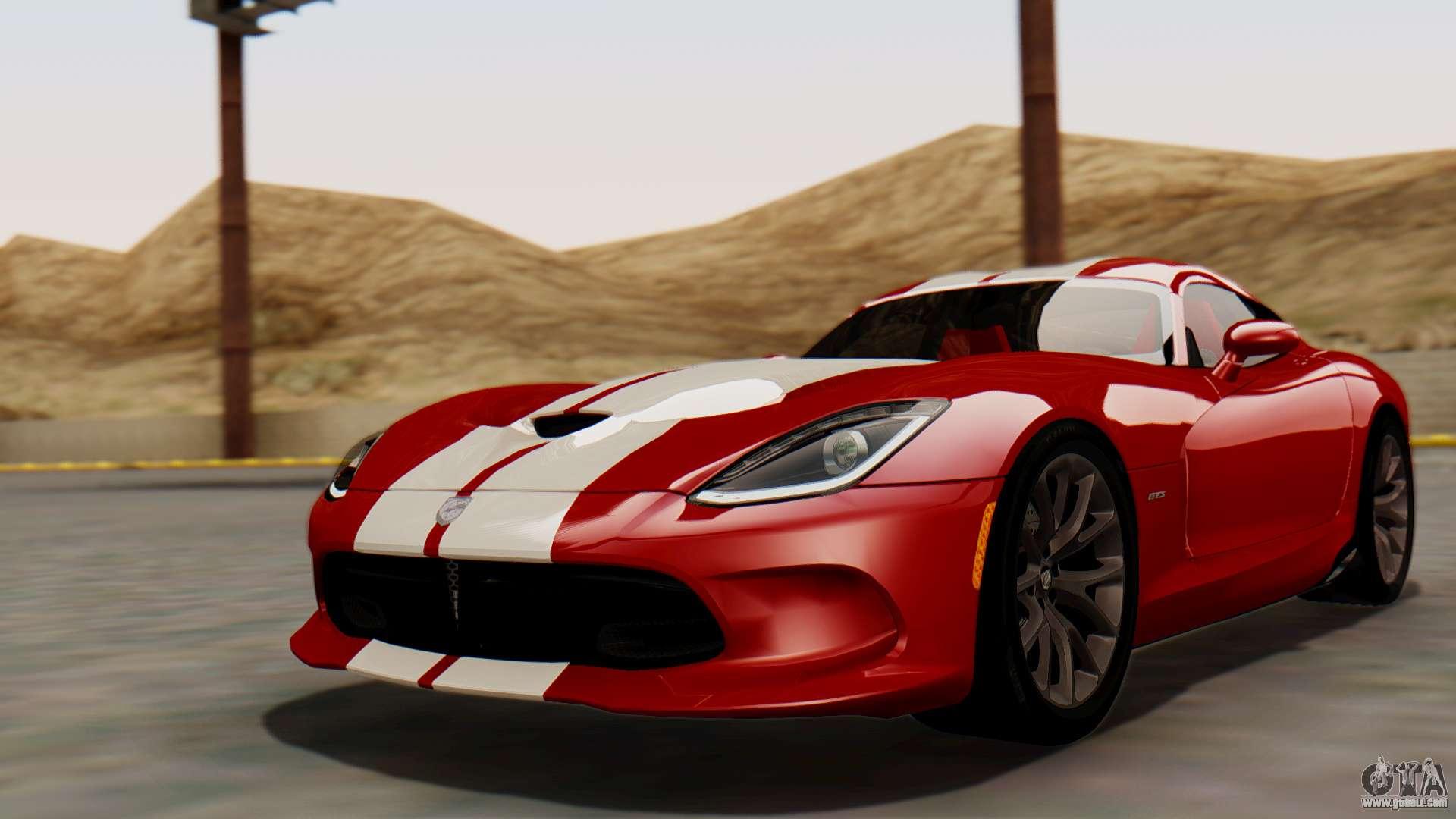 Dodge Viper Srt Gts 2013 Hqlm Mq Pj For Gta San Andreas
