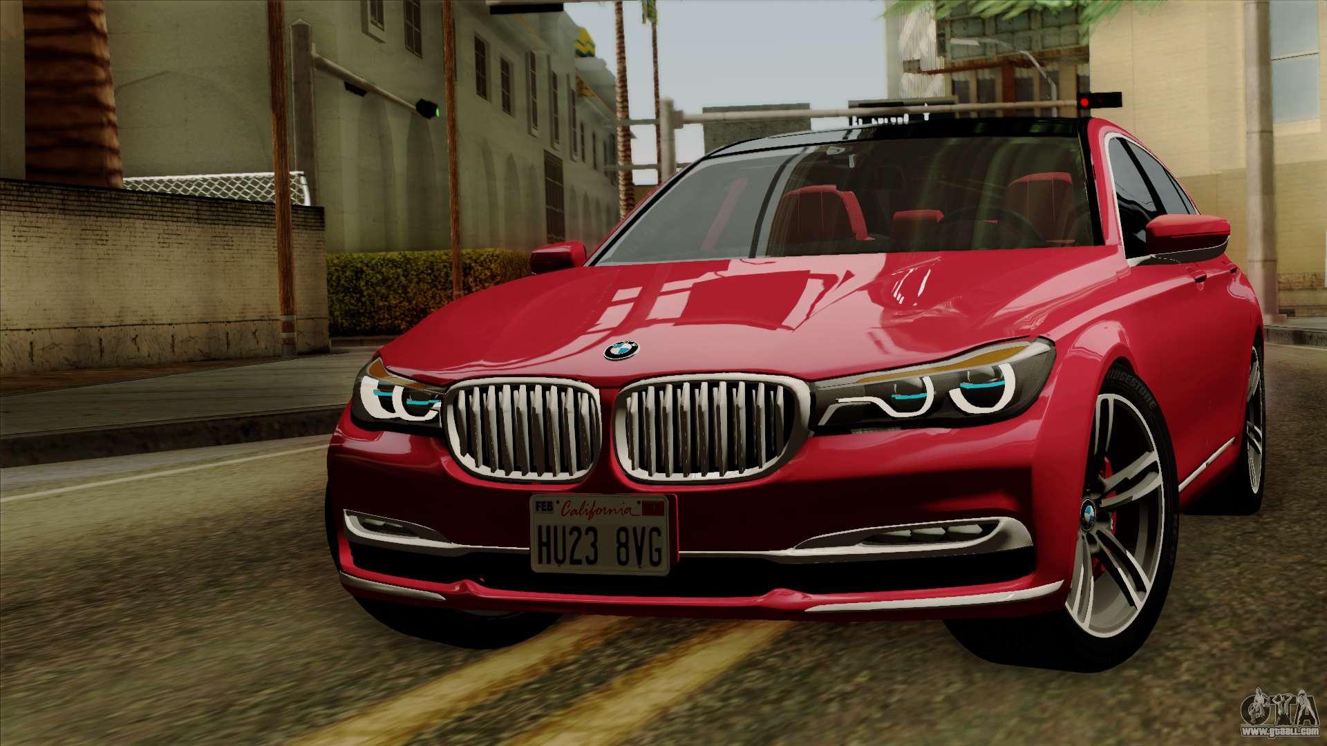 Bmw 750i 2015 >> BMW 7 2015 for GTA San Andreas