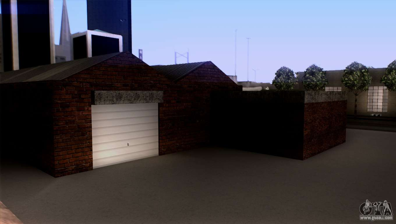 New lspd garage for gta san andreas for New garage