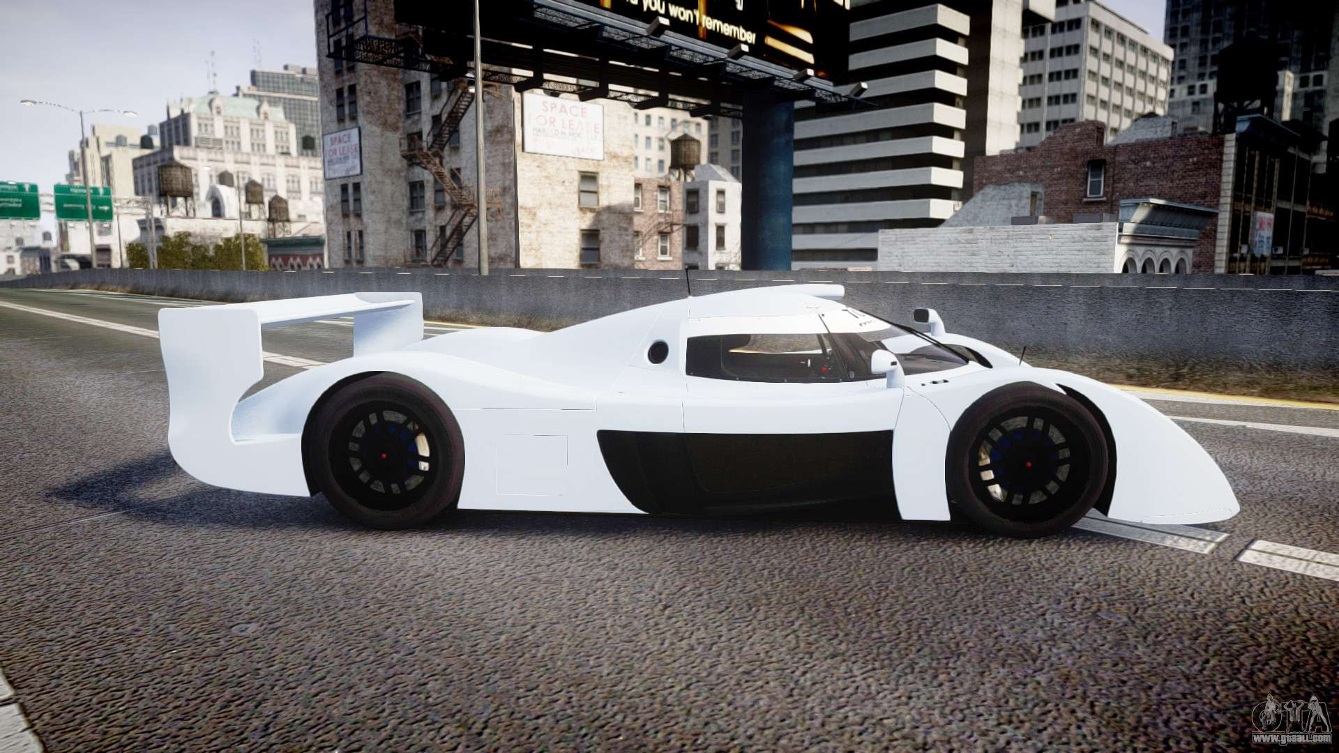 toyota gt one ts020 blank spoiler for gta 4. Black Bedroom Furniture Sets. Home Design Ideas