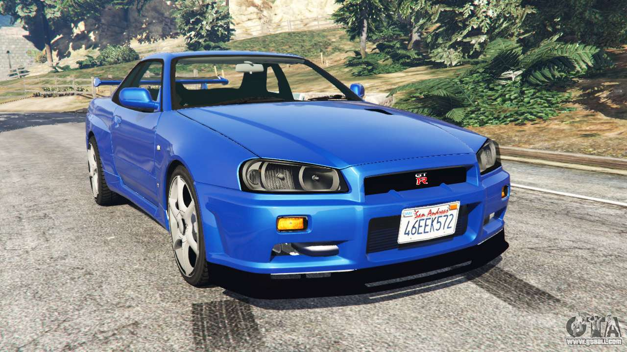 nissan skyline r34 gt r v0 1 for gta 5. Black Bedroom Furniture Sets. Home Design Ideas