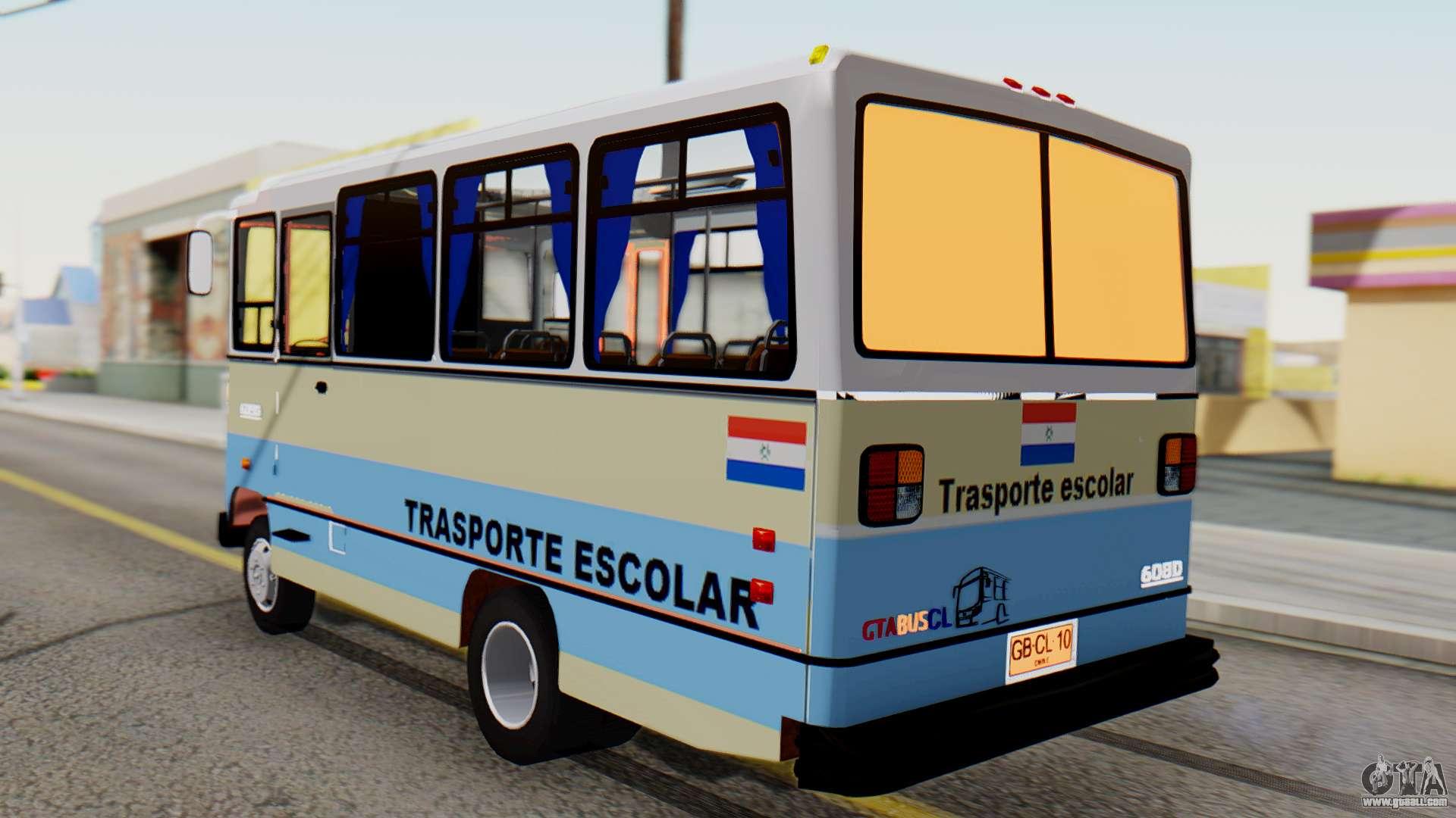 Mercedes benz lo 608d paraguay school bus for gta san andreas for Mercedes benz school