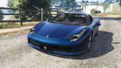 Ferrari 458 Italia v1.0.5 for GTA 5