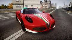Alfa Romeo 4C 2014 SBK Safety Car for GTA 4