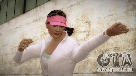 GTA 5 Amanda De Santa Tennis Skin for GTA San Andreas