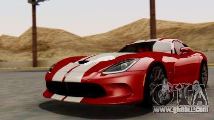 Dodge Viper SRT GTS 2013 HQLM (MQ PJ) for GTA San Andreas
