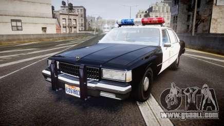 Chevrolet Caprice 1989 LAPD [ELS] for GTA 4