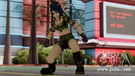 Leona from KoF Maxium Impact for GTA San Andreas