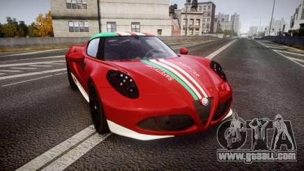Alfa Romeo 4C 2014 SBK Safety Car for GTA 4