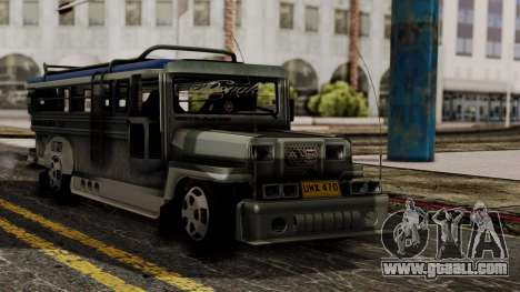 Milwaukee Motors Custom Jeepney for GTA San Andreas