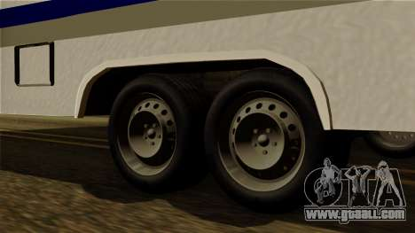 Camper Trailer for GTA San Andreas back left view