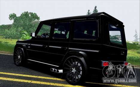 Mercedes Benz G65 Black Star Edition for GTA San Andreas back left view