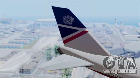Boeing 747 British Airlines (Landor) for GTA San Andreas back left view