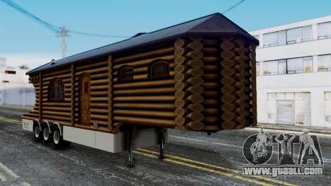 Scania Showtrailer Log Cabin for GTA San Andreas