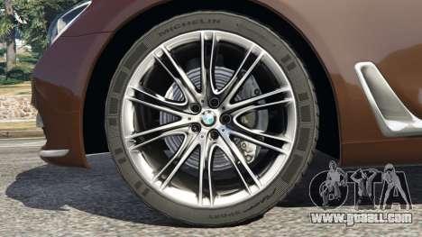 GTA 5 BMW 750Li 2016 v1.1 rear right side view