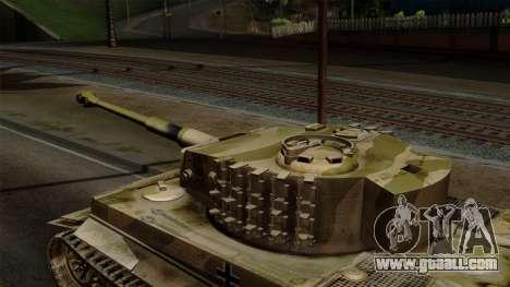 Panzerkampfwagen VI Ausf. E Tiger No Interior for GTA San Andreas right view
