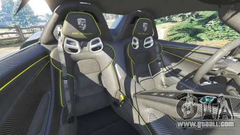 GTA 5 Porsche 918 Spyder 2014 [HD] steering wheel