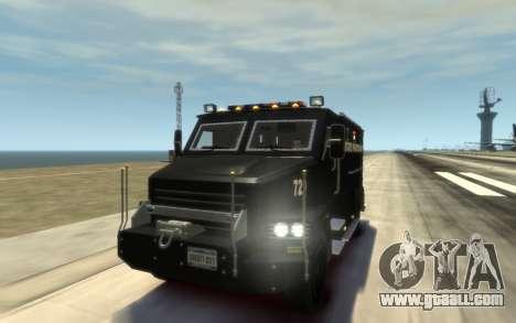 International 4000-Series SWAT Van for GTA 4 side view