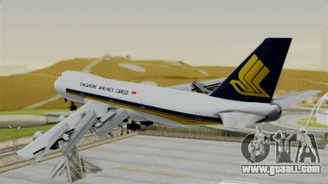 Boeing 747 Singapore Cargo for GTA San Andreas left view