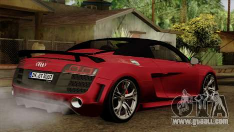Audi R8 GT Spyder 2012 for GTA San Andreas left view