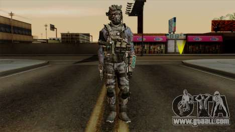 CoD Custom Ghost Retextured for GTA San Andreas second screenshot