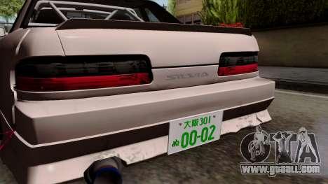 Nissan Silvia S13 for GTA San Andreas back view