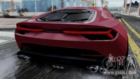 Lamborghini Asterion 2015 Concept for GTA San Andreas back view