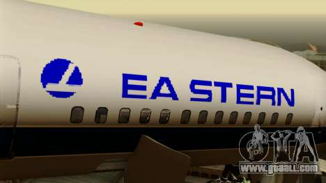 Boeing 757-200 Eastern Air Lines for GTA San Andreas back view