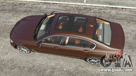 GTA 5 BMW 750Li 2016 v1.1 back view